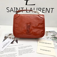 ysl women leather shoulder bags satchel tote bag handbag shopping leather tote crossbody 157