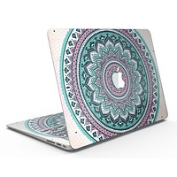 Green and Pink Circle Mandala v9 - MacBook Air Skin Kit