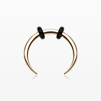 Golden Basic Steel Pincher Septum Ring