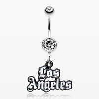 zzz-Los Angeles Logo Belly Ring