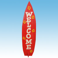 """Wooden Surfboard Welcome Sign 36"""""""