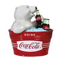 COCA-COLA POLAR BEAR COOKIE JAR