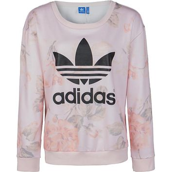 """Adidas""Casual Letter Print Top Sweater Sweatshirt"