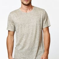 On The Byas Avers Longline Crew T-Shirt - Mens Tee - Brown