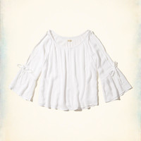 Girls Tie-Sleeve Top | Girls Tops | HollisterCo.com