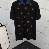 NEW 100% Authentic gucci 2018ss embroidery polo shirt  05