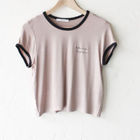 Take Me Higher Crop Ringer Tee