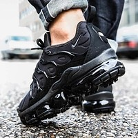 Nike Air VaporMax Plus Trending Women Men Air Cushion Sport Running Shoes Sneakers Black