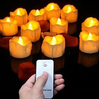 6 Pack Remote Control LED Tealights