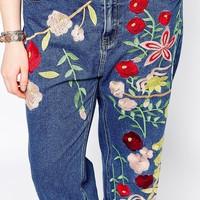 Alice & You Embroidered Girlfriend Jean