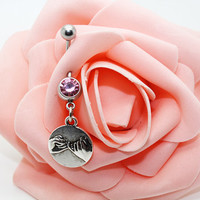 Pinky Swear belly button rings,Navel ring,Piercing belly ring,Friendship belly ring
