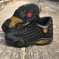 AIR JORDAN 14 (BLACK / GOLD \