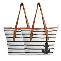 Fashion Women Lady Stripe Satchel Shoulder Bag Handbag Messenger Tote Purse Hot