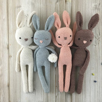 Bunny, MADE TO ORDER, crochet bunny, crochet toy, baby bunny, easter bunny, brown rabbit, child gift, newborn birth gift