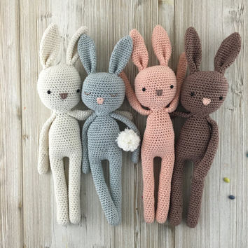 Baby Bunnies 1 & 2 and Pika - SEVEN amigurumi crochet patterns ... | 354x354