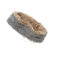 AERIE FUZZY CABLE KNIT HEADBAND