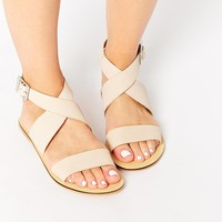 ASOS FOSTER Leather Flat Sandals