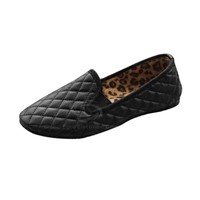 Casual Women's Spring Flat Shoes With PU Leather and Solid Color Checked Design