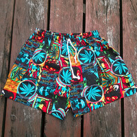 Shorts Bob Marley Reggae Rasta Yoga Harem Print African Jamaica Native Hippie Massage pant Gypsy Thai Clothing Men Rastafarian Cloth