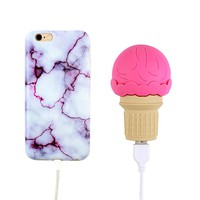 2000 mAh Portable Power Bank Phone Charger - Ice Cream