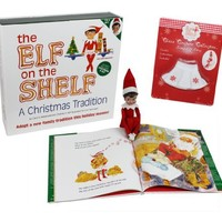 The Elf on the Shelf Girl Elf Edition with North Pole Blue Eyed Girl Elf and Girl Character Themed Storybook with Snowflake Skirt