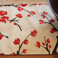 Dining Room Table Runner - FREE US SHIPPING - Cherry Blossoms