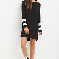 Contrast-Striped Shift Dress | Forever 21 - 2000146220