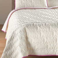 Nordstrom 'Love' Embroidered Quilt,