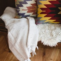 Solid Mexican Woven Blankets - Pink