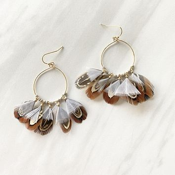Good Luck Faux Feather Earrings