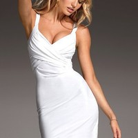 Drape-front Bra Top Dress