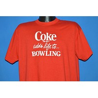 70s Coke Adds Life To Bowling t-shirt Extra Large