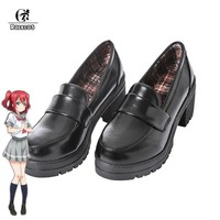 SHOES Women's Japanese Anime Love Live Sunshine Cosplay Shoes Takami Chika Girls JK Shoes Love Live Aqours School Uniform Shoes