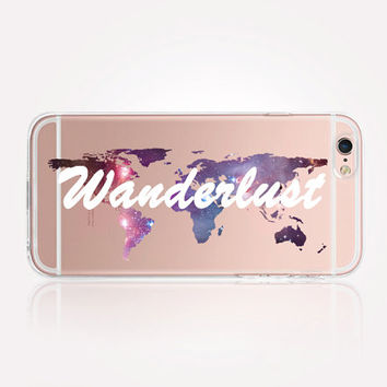 Transparent Wanderlust iPhone Case - Transparent Case - Clear Case - Transparent iPhone 6 - Transparent iPhone 5 - Transparent iPhone 4