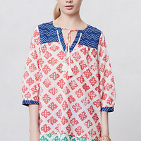Embroidered Gaillardia Cover-Up