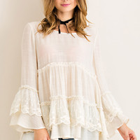 Tiered Baby Doll Top - Natural