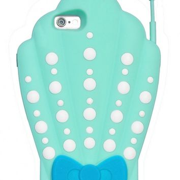 iPhone Case - Mermaid on Call Shell iPhone 6 Case in Sea Foam