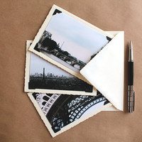 set of 3 greeting cards Paris photography blank cards with envelopes Eiffel Tower greeting cards greeting card set photocards with envelopes