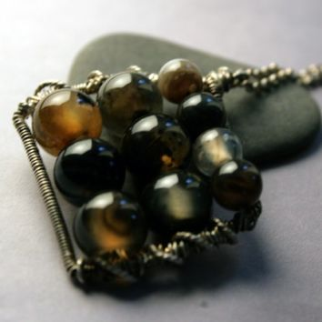 Abacus Necklace - Beaded Pendant Necklace