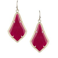 Alex Earrings in Maroon Jade - Kendra Scott Jewelry