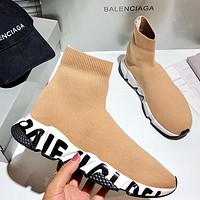 Wearwinds Balenciaga 2020 new 3D color printed outsole high-top sock shoes