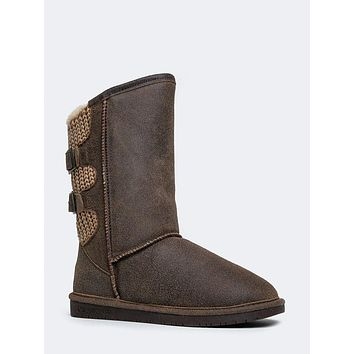Bucked Knit Winter Boots