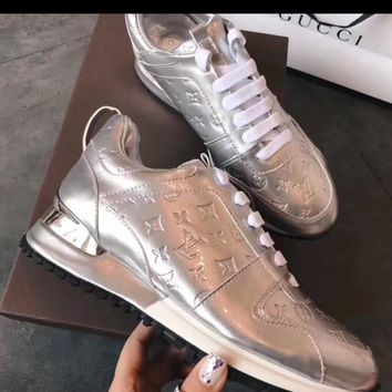 LV Silver Inspired Sneakers