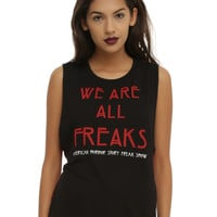 American Horror Story: Freak Show We Are All Freaks Striped Girls Muscle Top