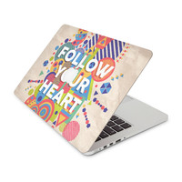 Follow Your Heart Exploding Shapes Skin for the Apple MacBook