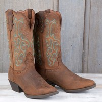 Justin Ladies' Brown Stampede Boots - Boots - Women's
