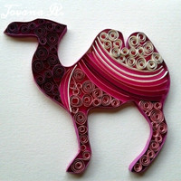 Unique handmade greeting card.Camel :)