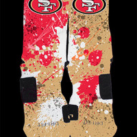 San Francisco 49ers Inspired by Pthirty Custom Nike Elite Socks