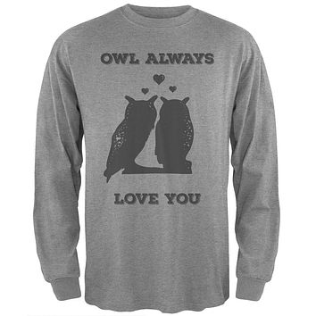 Valentine's Day - Paws - Owl Always Love You Heather Long Sleeve T-Shirt