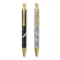 Marble and Leaf Pen Set